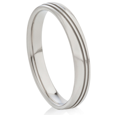 Steel Ring with Decorative Design