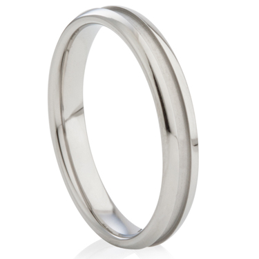 Steel Ring with Central Channel