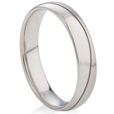 Decorative Two Tone Steel Ring