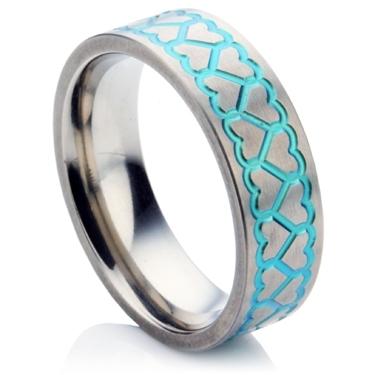 Heart Zirconium Wedding Ring
