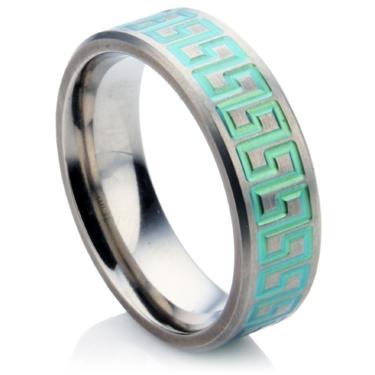 Aztec Zirconium Wedding Ring
