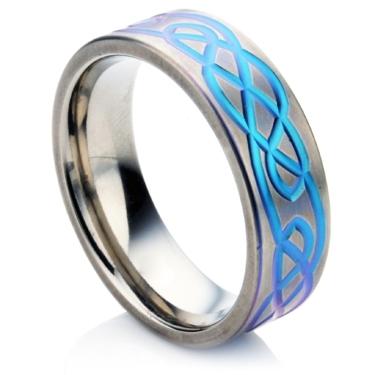 Celtic Zirconium Wedding Ring