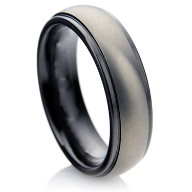 Matt Finish Court Profile Zirconium Ring