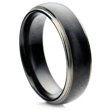 Black Zirconium Ring with a Matt Finish