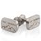 Laser Engraved Titanium Cuff Links with Latitude and Longitude Thumbnail 1