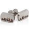 New York Skyline Laser Engraved Titanium Cuff Links Thumbnail 1