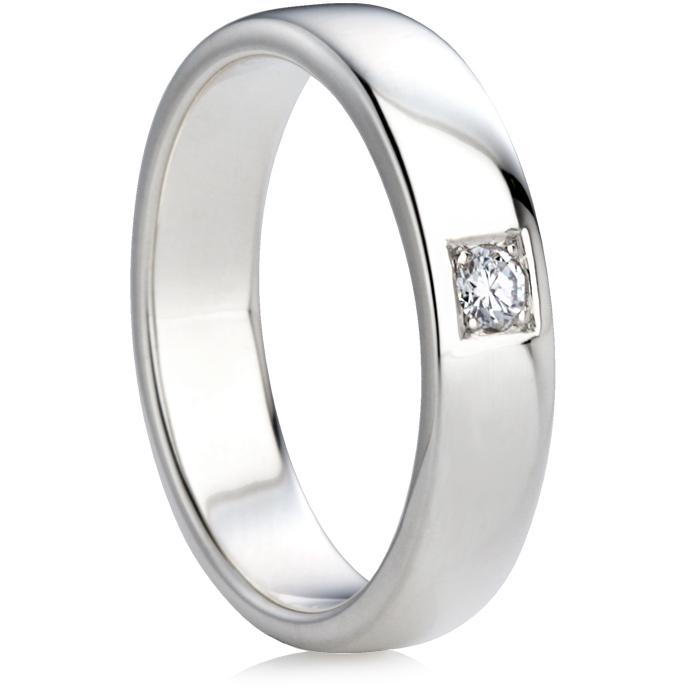 Brilliant Cut Diamond Set Double Comfort Wedding Ring Thumbnail 1