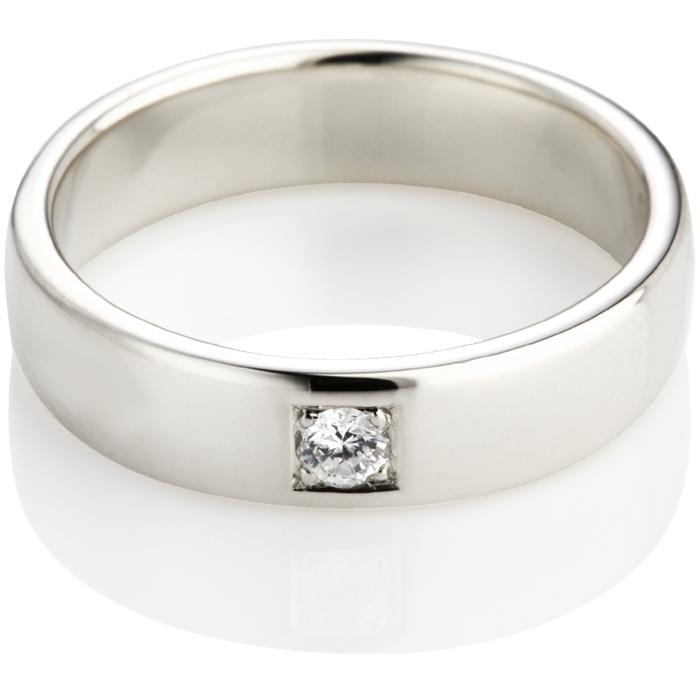 Brilliant Cut Diamond Set Double Comfort Wedding Ring Thumbnail 3