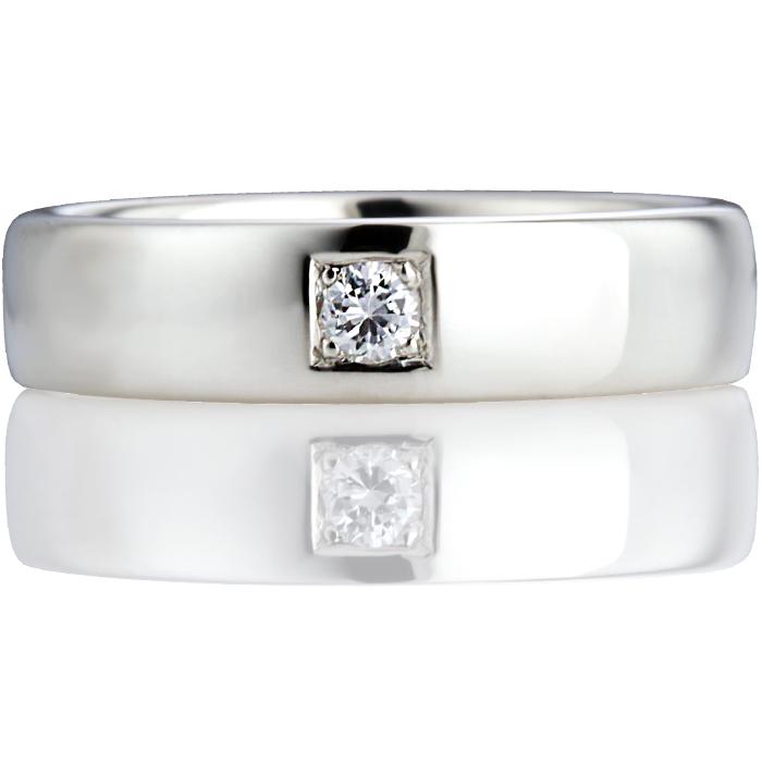 Brilliant Cut Diamond Set Double Comfort Wedding Ring Thumbnail 4