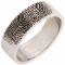 Laser Engraved Finger Print Ring Thumbnail 2