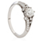 Vintage Brilliant Cut Diamond Ring with Diamond Set Shoulders Thumbnail 2