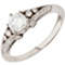 Vintage Brilliant Cut Diamond Ring with Diamond Set Shoulders Thumbnail 3