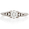 Vintage Brilliant Cut Diamond Ring with Diamond Set Shoulders Thumbnail 4