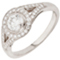 Halo Engagement Ring with Brilliant Cut Diamonds Thumbnail 3
