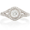 Halo Engagement Ring with Brilliant Cut Diamonds Thumbnail 4
