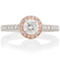 Halo Engagement Ring with Pink Brilliant Cut Diamonds Thumbnail 4