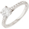 Engagement Ring with Diamond Set Shoulders Thumbnail 3