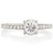 Engagement Ring with Diamond Set Shoulders Thumbnail 4
