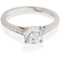Brilliant Cut Solitaire Engagement Ring with Diamond Set Shoulders Thumbnail 1