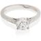 Brilliant Cut Solitaire Engagement Ring with Diamond Set Shoulders Thumbnail 1