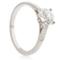 Brilliant Cut Solitaire Engagement Ring with Diamond Set Shoulders Thumbnail 2