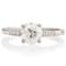 Brilliant Cut Solitaire Engagement Ring with Diamond Set Shoulders Thumbnail 4