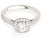 Cushion Cut Solitaire Engagement Ring with Diamond Set Shoulders Thumbnail 1