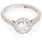 Halo Engagement Ring with Diamond Set Shoulders Thumbnail 1