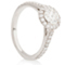 Halo Engagement Ring with Diamond Set Shoulders Thumbnail 2