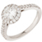 Halo Engagement Ring with Diamond Set Shoulders Thumbnail 3