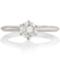 Solitaire Brilliant Cut Diamond Engagement Ring Thumbnail 4