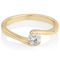 Yellow Gold Diamond Solitaire Engagement Ring Thumbnail 1