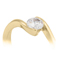 Yellow Gold Diamond Solitaire Engagement Ring Thumbnail 2