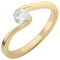 Yellow Gold Diamond Solitaire Engagement Ring Thumbnail 3