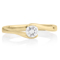 Yellow Gold Diamond Solitaire Engagement Ring Thumbnail 4