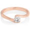 Rose Gold Diamond Solitaire Engagement Ring Thumbnail 1