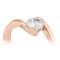 Rose Gold Diamond Solitaire Engagement Ring Thumbnail 2