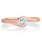 Rose Gold Diamond Solitaire Engagement Ring Thumbnail 4
