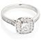 Cushion Cut Diamond Engagement Cluster Ring Thumbnail 1