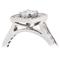 Cushion Cut Diamond Engagement Cluster Ring Thumbnail 2