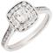 Cushion Cut Diamond Engagement Cluster Ring Thumbnail 3
