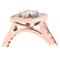 Rose Gold Cushion Cut Diamond Engagement Cluster Ring Thumbnail 2