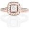 Rose Gold Cushion Cut Diamond Engagement Cluster Ring Thumbnail 4