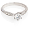 Solitaire Diamond Engagement Ring With Diamond Set Shoulders Thumbnail 1