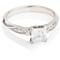 Princess Cut Diamond Solitaire with Diamond Set Shoulders Thumbnail 1