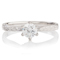 Hand Engraved Brilliant Cut Diamond Solitaire Engagement Ring Thumbnail 2