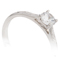 Brilliant Cut Diamond Hand Engraved Solitaire Engagement Ring Thumbnail 2