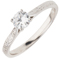 Brilliant Cut Diamond Hand Engraved Solitaire Engagement Ring Thumbnail 3