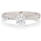 Brilliant Cut Diamond Hand Engraved Solitaire Engagement Ring Thumbnail 4