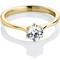 Yellow Gold Brilliant Cut Diamond Engagement Ring Thumbnail 1